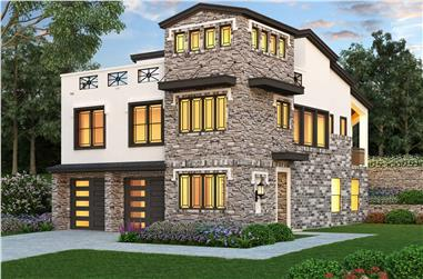 3-Bedroom, 2537 Sq Ft Contemporary Home - Plan #195-1224 - Main Exterior