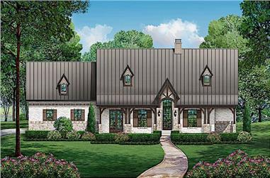 3-Bedroom, 2668 Sq Ft Cottage Home - Plan 195-1227 - Main Exterior
