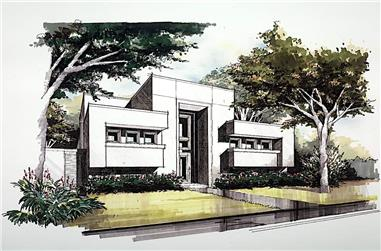 3-Bedroom, 4095 Sq Ft Modern Home - Plan #195-1228 - Main Exterior