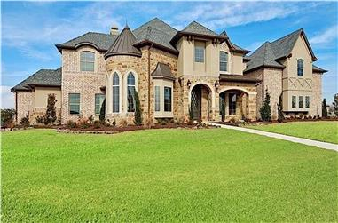 4-Bedroom, 4691 Sq Ft Luxury House - Plan #195-1232 - Front Exterior