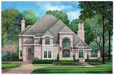 5-Bedroom, 4589 Sq Ft European House - Plan #195-1233 - Front Exterior