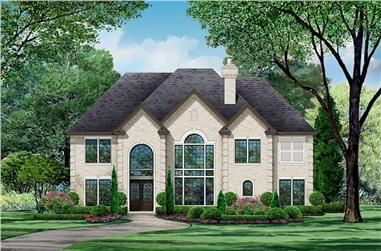 4-Bedroom, 4940 Sq Ft European Home - Plan #195-1235 - Main Exterior