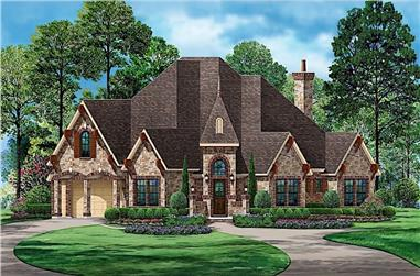 4-Bedroom, 3705 Sq Ft European House - Plan #195-1236 - Front Exterior