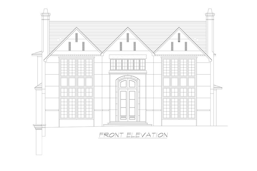 Home Plan Front Elevation of this 5-Bedroom,7918 Sq Ft Plan -195-1237