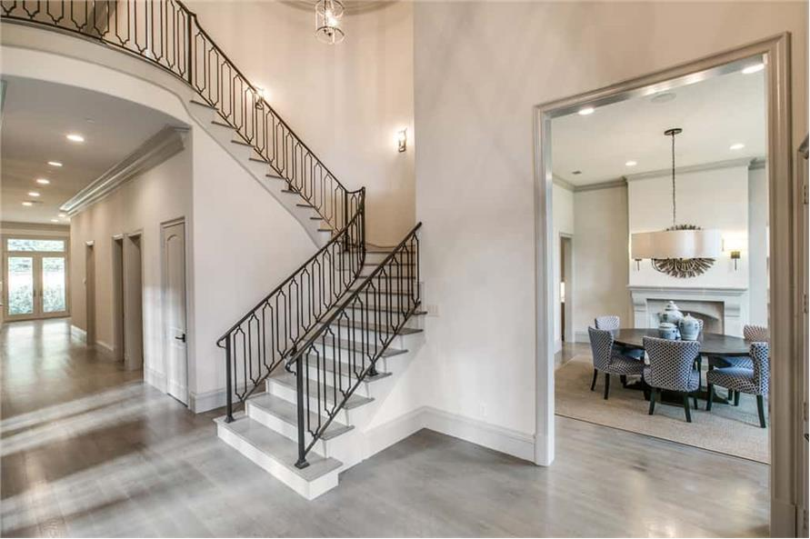 Entry Hall: Staircase of this 5-Bedroom,7918 Sq Ft Plan -7918