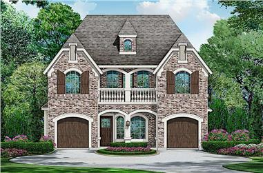 3-Bedroom, 3827 Sq Ft Colonial Home - Plan #195-1241 - Main Exterior