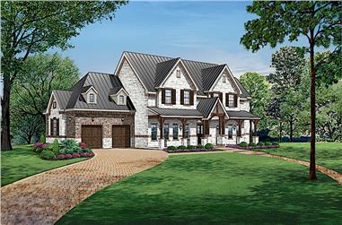 4-Bedroom, 4871 Sq Ft Colonial Home - Plan #195-1242 - Main Exterior