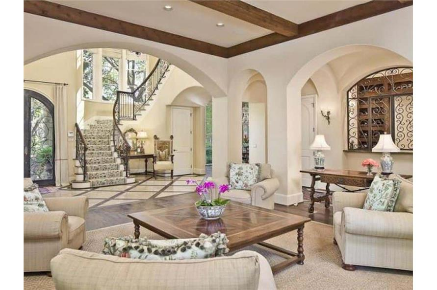 Home Office: Den of this 5-Bedroom,7700 Sq Ft Plan -195-1243