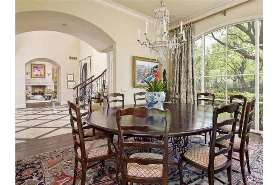 Dining Room of this 5-Bedroom,7700 Sq Ft Plan -195-1243