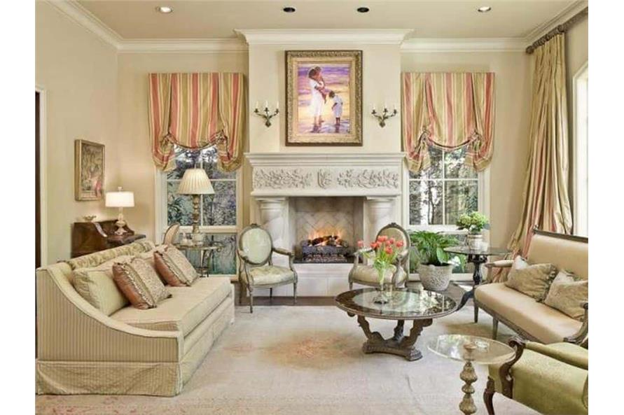 Living Room of this 5-Bedroom,7700 Sq Ft Plan -195-1243