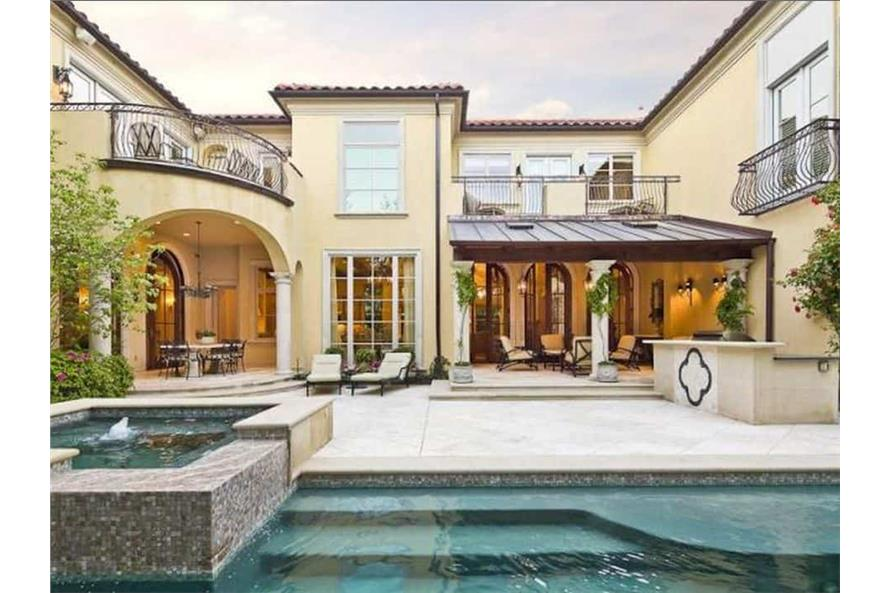 Pool of this 5-Bedroom,7700 Sq Ft Plan -195-1243