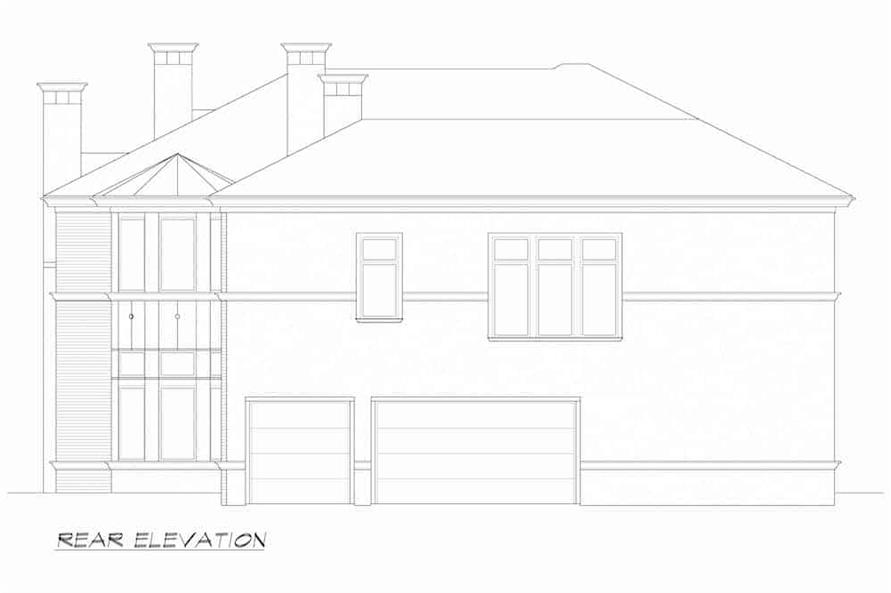 Home Plan Rear Elevation of this 5-Bedroom,7700 Sq Ft Plan -195-1243