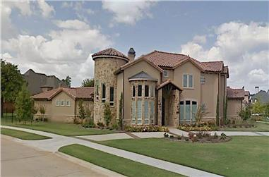 5-Bedroom, 6052 Sq Ft Mediterranean Home - Plan #195-1246 - Main Exterior