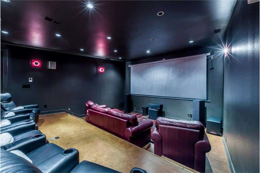 Media Room of this 3-Bedroom,4580 Sq Ft Plan -195-1249