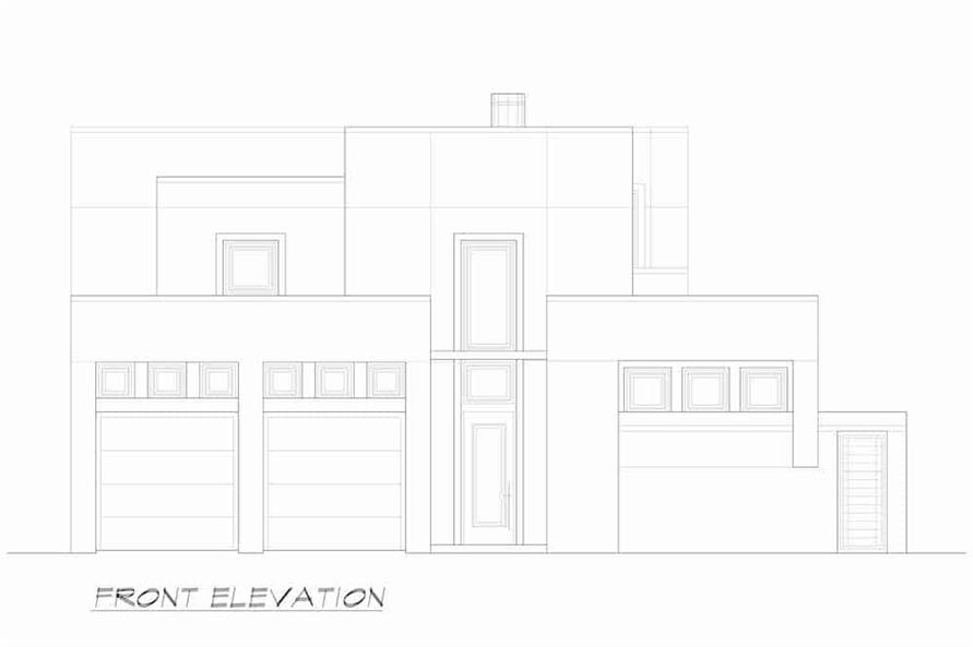 Home Plan Front Elevation of this 3-Bedroom,4580 Sq Ft Plan -195-1249