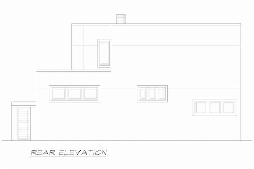 Home Plan Rear Elevation of this 3-Bedroom,4580 Sq Ft Plan -195-1249