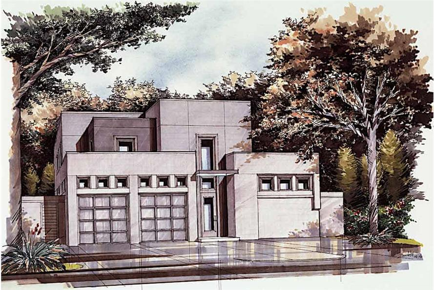 Front View of this 3-Bedroom,4580 Sq Ft Plan -195-1249