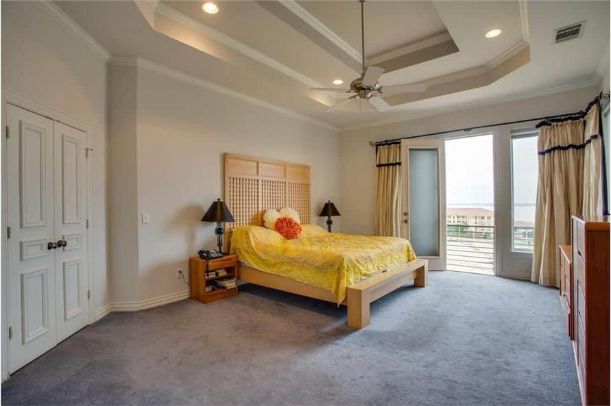 Master Bedroom of this 3-Bedroom,3987 Sq Ft Plan -195-1250