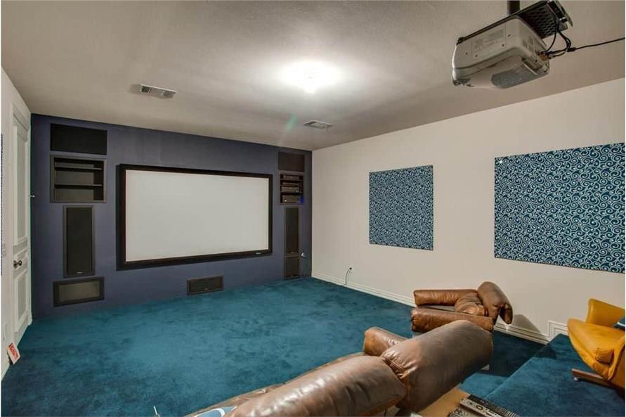 Media Room of this 3-Bedroom,3987 Sq Ft Plan -195-1250