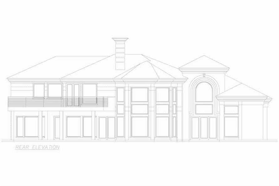 Home Plan Rear Elevation of this 3-Bedroom,3987 Sq Ft Plan -195-1250