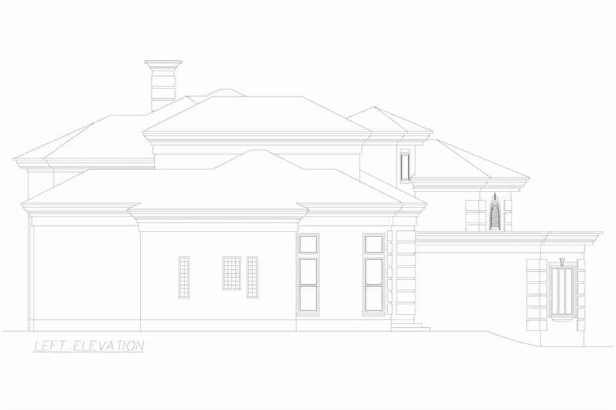 Home Plan Left Elevation of this -Bedroom, Sq Ft Plan -195-1250