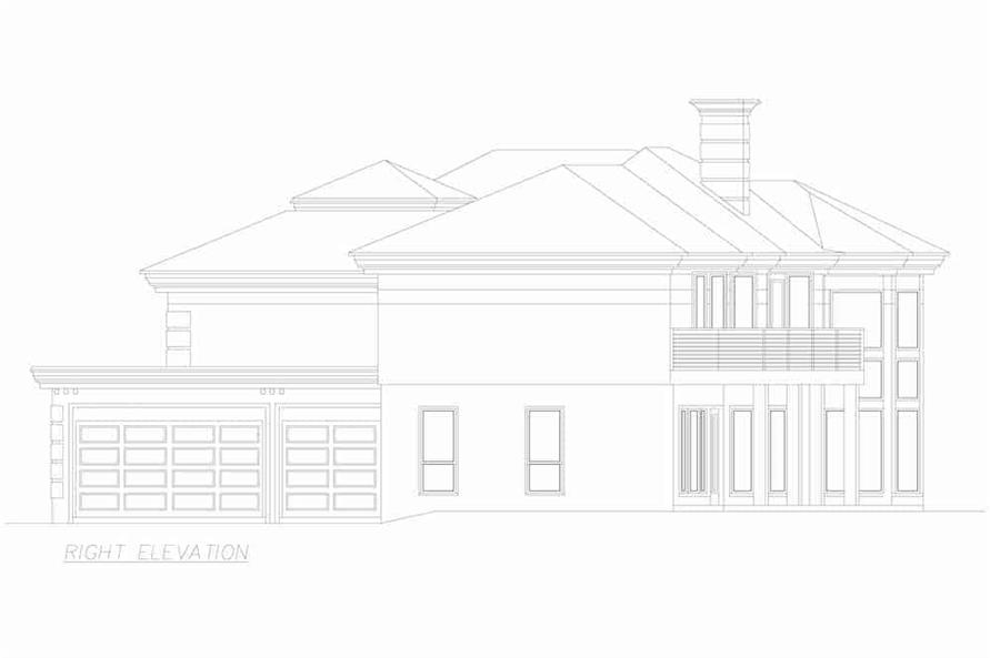 Home Plan Right Elevation of this 3-Bedroom,3987 Sq Ft Plan -195-1250