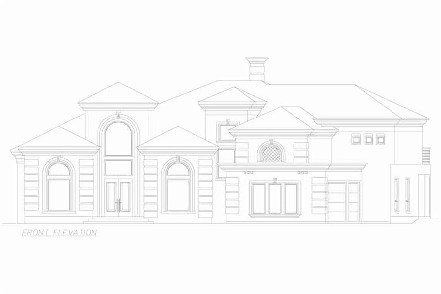 Home Plan Front Elevation of this 3-Bedroom,3987 Sq Ft Plan -195-1250