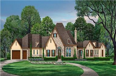 3-Bedroom, 3715 Sq Ft European House - Plan #195-1253 - Front Exterior