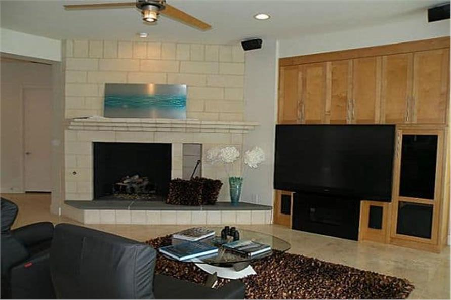 Living Room of this 4-Bedroom,5199 Sq Ft Plan -195-1257