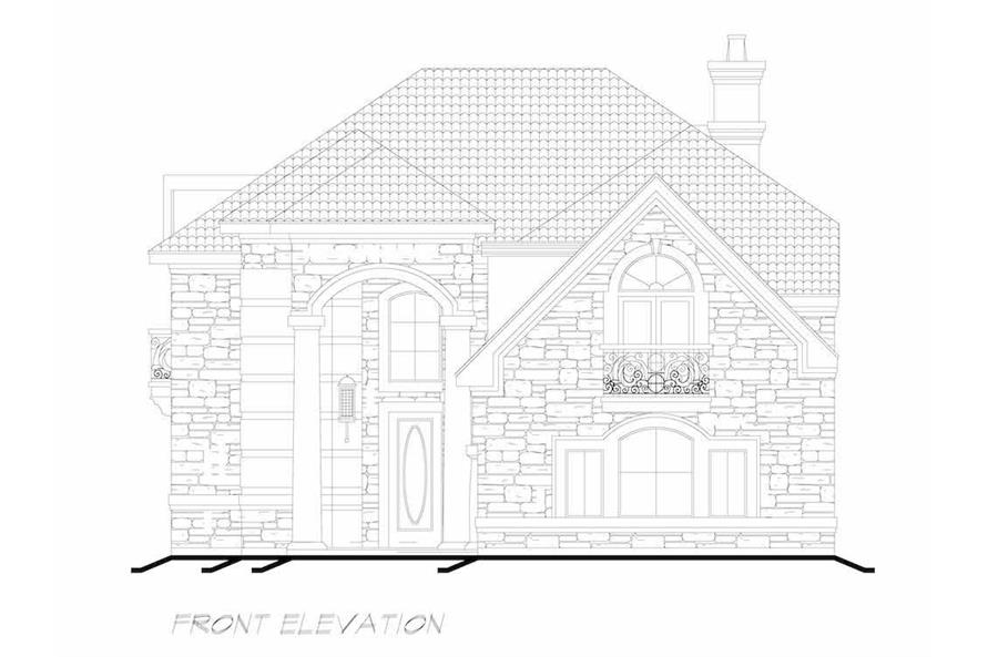 Home Plan Front Elevation of this 3-Bedroom,4416 Sq Ft Plan -195-1258