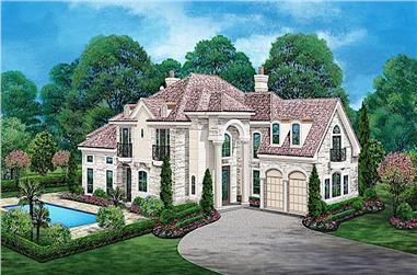 3-Bedroom, 4416 Sq Ft Mediterranean Home - Plan #195-1258 - Main Exterior