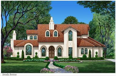 3-Bedroom, 3628 Sq Ft Mediterranean House - Plan #195-1260 - Front Exterior