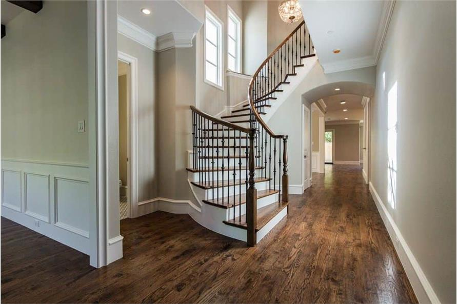 Entry Hall: Staircase of this 6-Bedroom,5618 Sq Ft Plan -195-1264