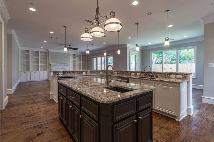 Kitchen: Kitchen Island of this 6-Bedroom,5618 Sq Ft Plan -195-1264