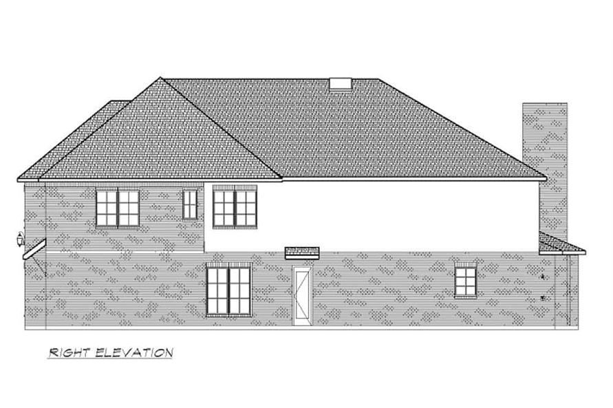 Home Plan Right Elevation of this 6-Bedroom,5618 Sq Ft Plan -195-1264
