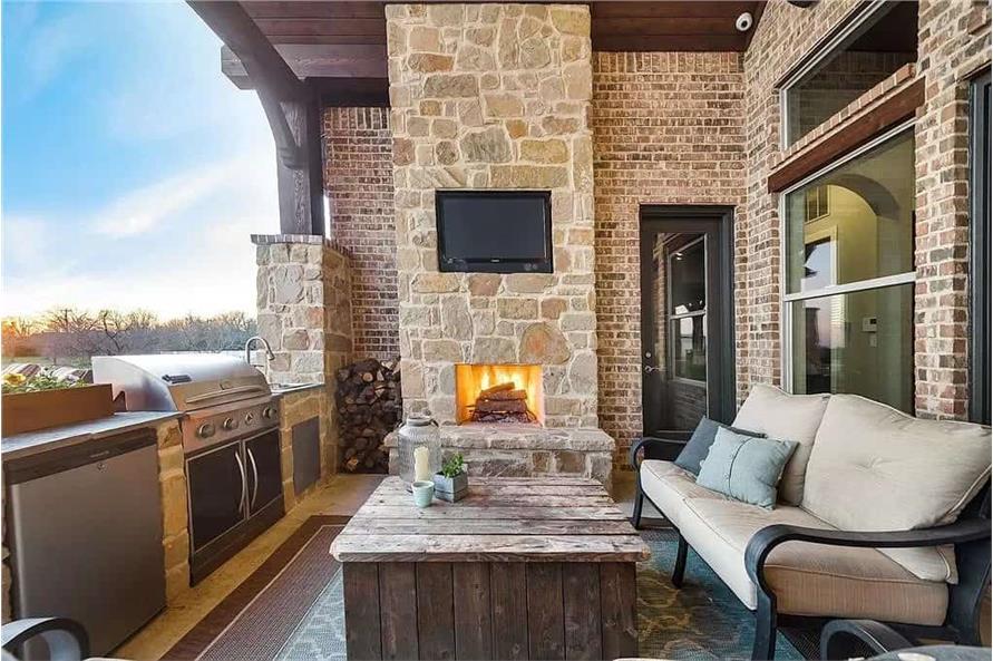 Outdoor Kitchen of this 4-Bedroom,3065 Sq Ft Plan -195-1265
