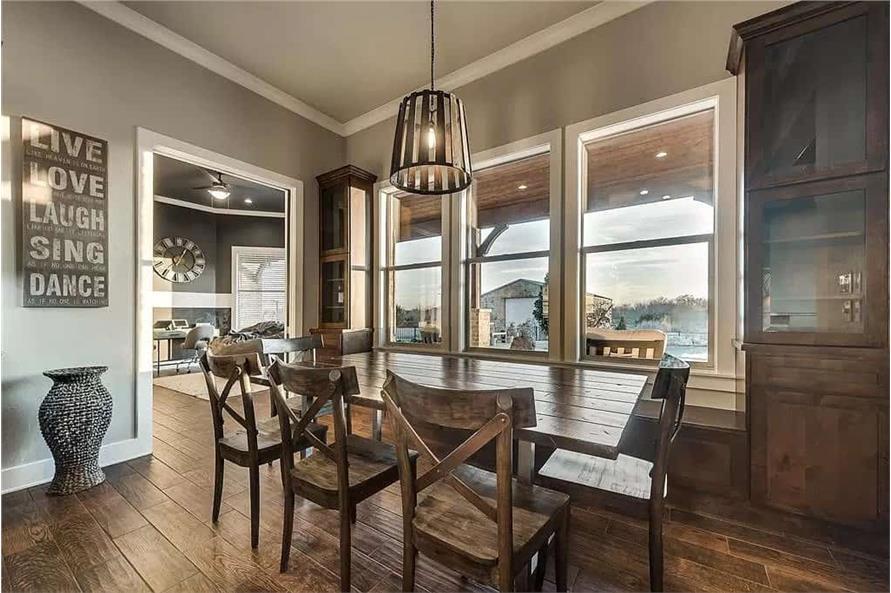 Kitchen: Breakfast Nook of this 4-Bedroom,3065 Sq Ft Plan -195-1265