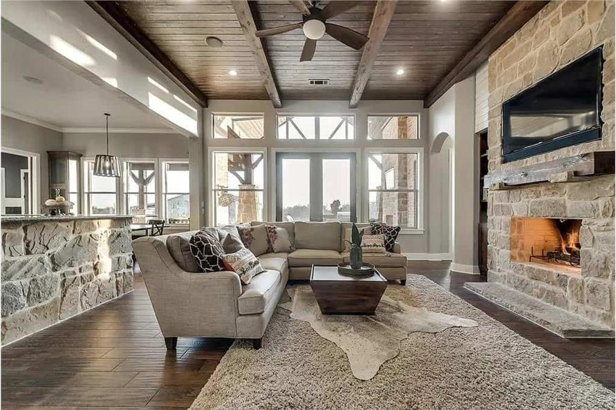 Family Room of this 4-Bedroom,3065 Sq Ft Plan -195-1265