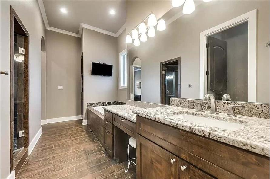 Master Bathroom of this 4-Bedroom,3065 Sq Ft Plan -195-1265