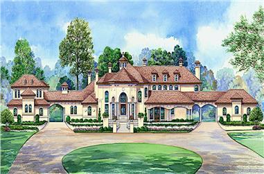 5-Bedroom, 12291 Sq Ft Spanish Home - Plan #195-1266 - Main Exterior