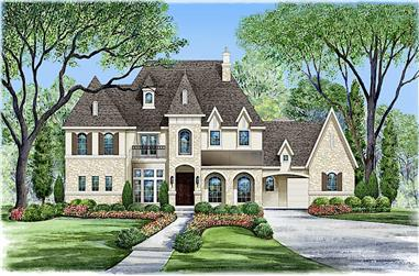 6-Bedroom, 6974 Sq Ft French House - Plan #195-1267 - Front Exterior