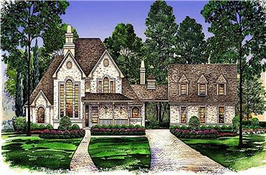 3-Bedroom, 2699 Sq Ft European House - Plan #195-1269 - Front Exterior
