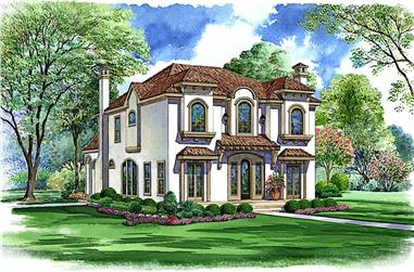 5-Bedroom, 5131 Sq Ft Spanish Home - Plan - #5-1271 - Main Exterior