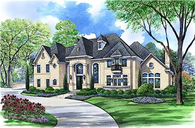 5-Bedroom, 8523 Sq Ft European House - Plan #195-1272 - Front Exterior