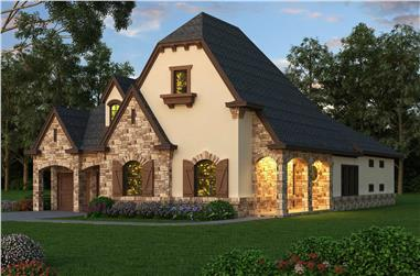 3-Bedroom, 3090 Sq Ft French House - Plan #195-1274 - Front Exterior