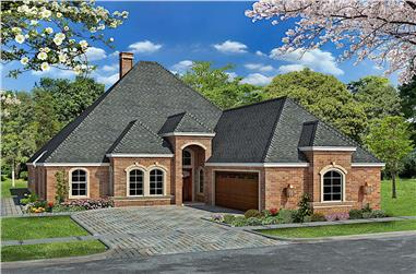 3-Bedroom, 2953 Sq Ft French House - Plan #195-1276 - Front Exterior
