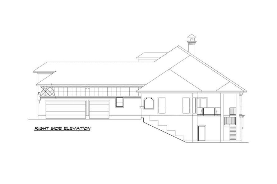 Home Plan Right Elevation of this 5-Bedroom,7354 Sq Ft Plan -195-1277