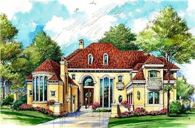 4-Bedroom, 5956 Sq Ft Mediterranean Home - Plan #195-1279 - Main Exterior