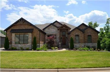 4-Bedroom, 4314 Sq Ft Luxury House - Plan #195-1283 - Front Exterior