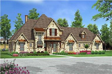 4–5-Bedroom, 3164 Sq Ft European Home - Plan #195-1284 - Main Exterior